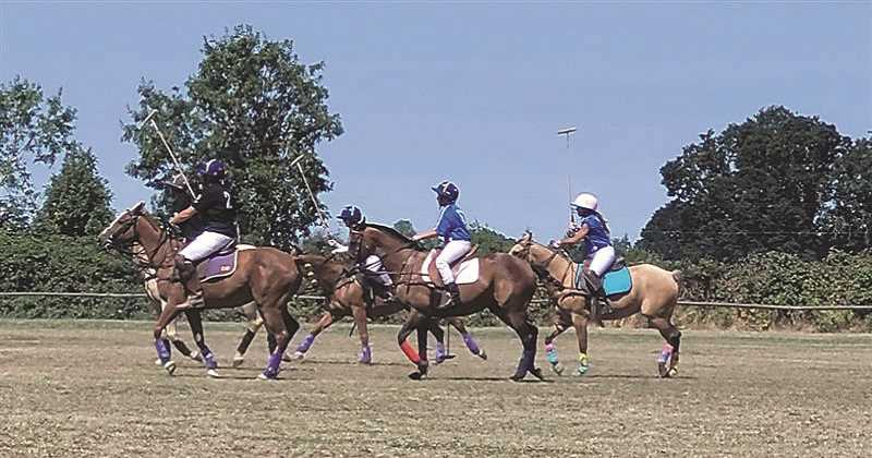 PMG PHOTO: SANDY STOREY - The action was fast and fun July 23-24 at the Rose City Polo Club in Molalla.