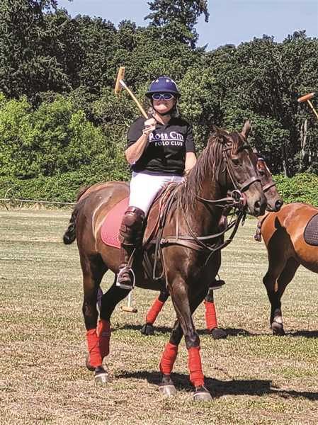 PMG PHOTO: SANDY STOREY - A good turnout of teams and spectators highlighted the weekend's polo action in Molalla.