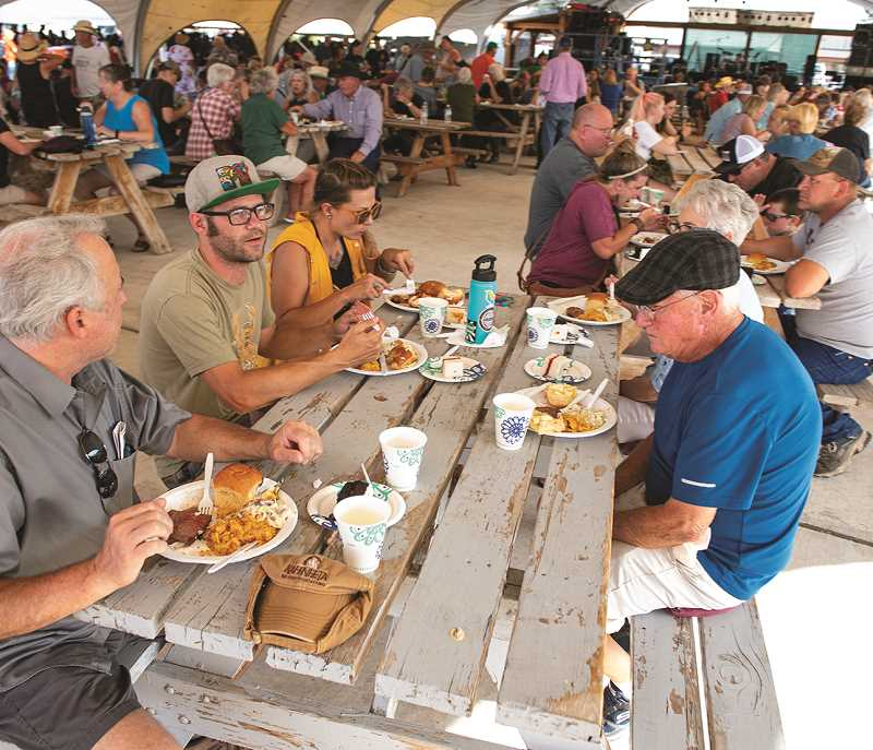 CENTRAL OREGONIAN FILE PHOTO - Greg Merritt Community Scholarship Barbeque will kick off the fair Wednesday, August 4, and will precede live music and additional attractions