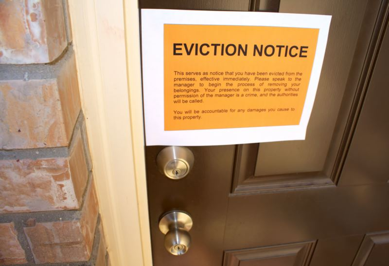 FILE - An eviction notice is shown here.