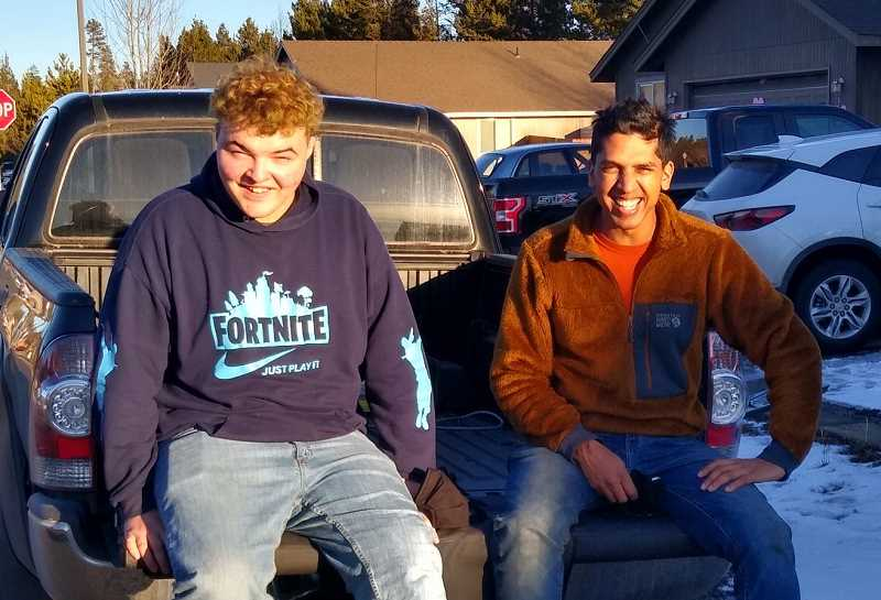 BIG BROTHERS BIG SISTERS OF CENTRAL OREGON PHOTO   - Maitreya, right, was a mentor to JP, left, through the Big Brothers Big Sisters of Central Oregon program. Maitreya helped JP boost his self-confidence and face his fears. The program is returning to Jefferson County after being away for a year.