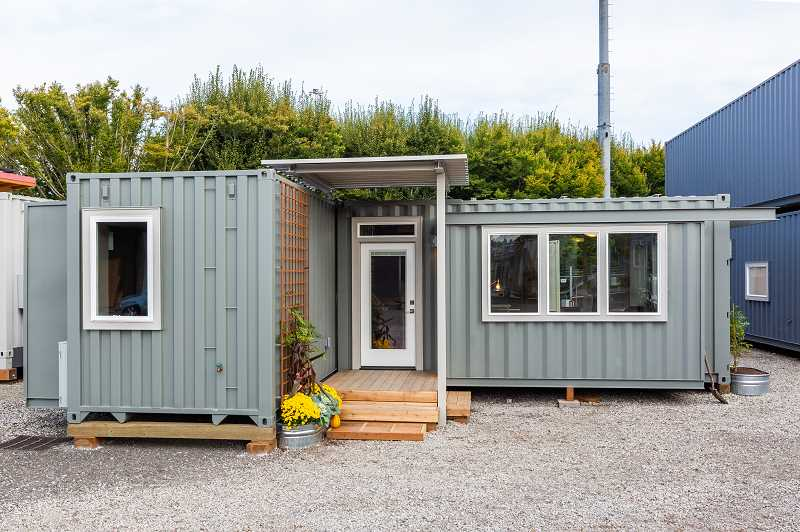 COURTESY PHOTO: NW NATURAL STREET OF DREAMS - The NW Natural Street of Dreams main Happy Valley location temporarily contains some basic housing made from shipping containers, because this year not everyone's dream home is the same.