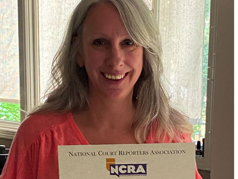 Lake Oswego resident receives national certification for court reporting