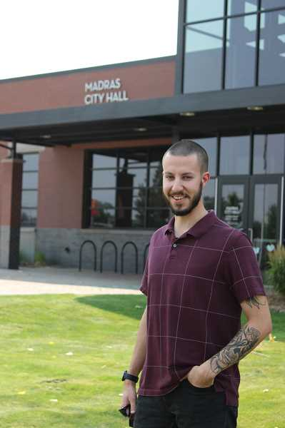 PAT KRUIS/MADRAS PIONEER - The Madras City Council elected Gabriel Soliz, 25, to fill a vacant position on the panel. Soliz currently works for Jefferson County as a staff accountant and deputy tax collector.