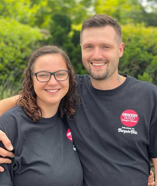 COURTESY PHOTO - Paige Cooper-Woodard and Mike Donnelly will co-manage the Molalla Grocery Outlet store.