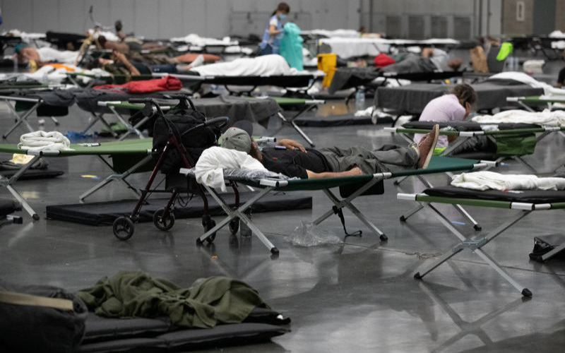 PMG FILE PHOTO - A cooling center in Multnomah County during the last heat wave.