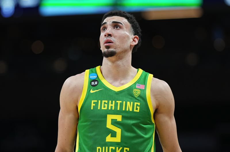 COURTESY PHOTO: GETTY IMAGES/NCAA - Indiana drafted UO's Chris Duarte No. 13 in the NBA Draft on Thursday.