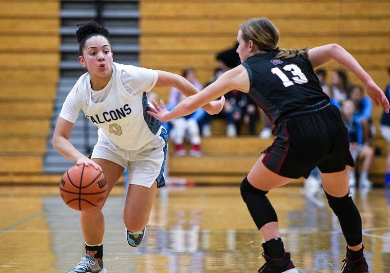 PMG FILE PHOTO - Liberty's Taylin Smith was a first team All-Pacific Conference selection and Co-Player of the Year with McMinnville's Kylee Arzner.