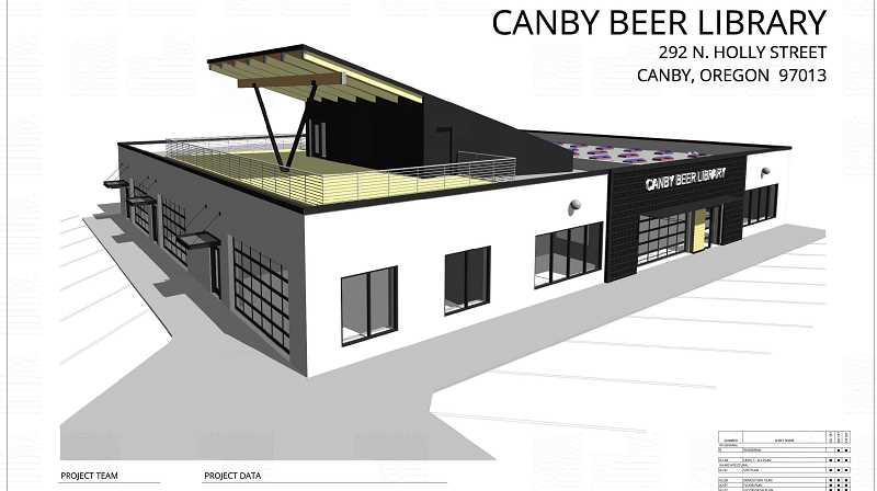 COURTESY PHOTO: CITY OF CANBY - The Beer Library, coming to the old downtown Canby Library location, will have rooftop seating.