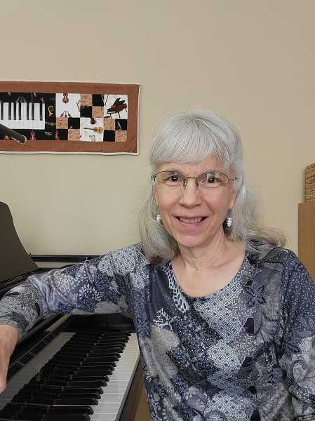 COURTESY PHOTO - Forest Grove's Sarah Barker Ball, long-time music teacher and enthusiast, accepted the American Eagle Award on behalf of music educators nationwide.