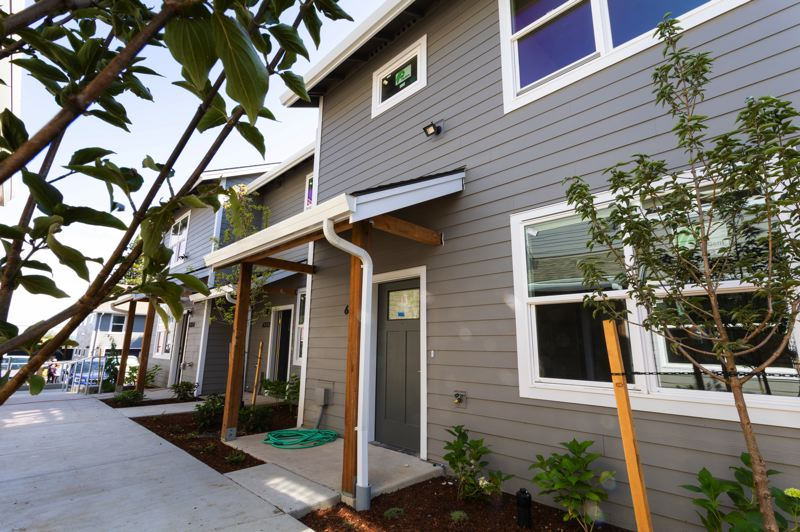 SUBMITTED PHOTO - Habitat for Humanity has completed ten new permanently affordable townhomes in Portland's Cully neighborhood.