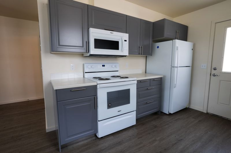 SUBMITTED PHOTO - The cozy kitchen of a new Habitat for Humanity home in Portland's Cully neighborhood is shown here.