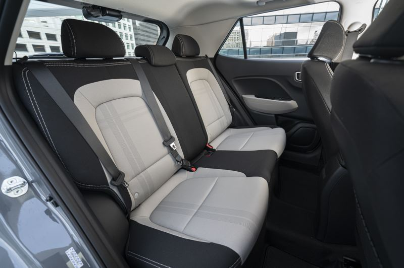COURTESY HYUNDAI MOTOR AMERICA - The rear seats in the 2022 Hyundau Venue are very room, thanks to the practical boxy design.