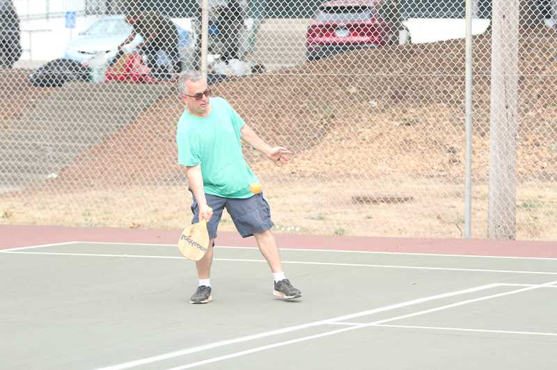 PMG PHOTO: TANNER RUSS - Dave LaDuca has been one of the more energetic proponents of pickleball in Woodburn, helping to bring in new players when he gets the opportunity.