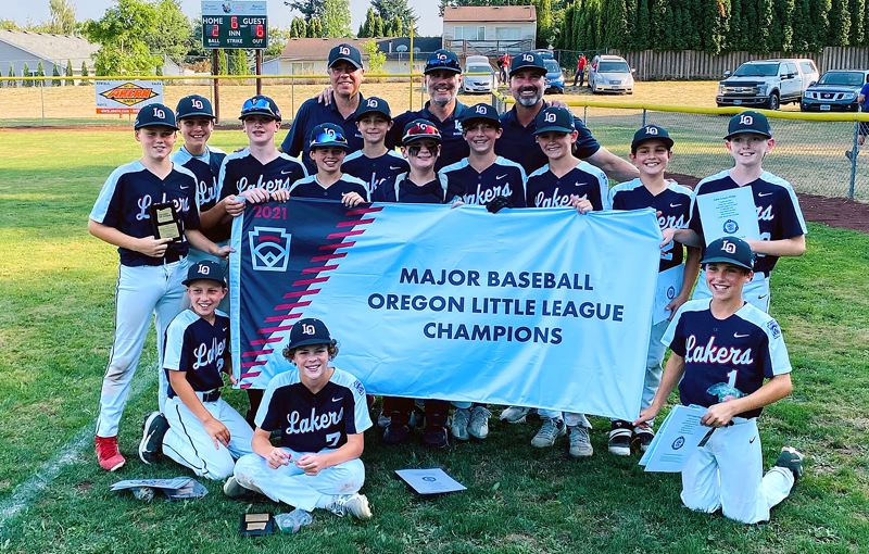 COURTESY PHOTO - The Lake Oswego Little League Majors baseball team stepped up to win the Oregon state championship in Troutdale  July 24-29.