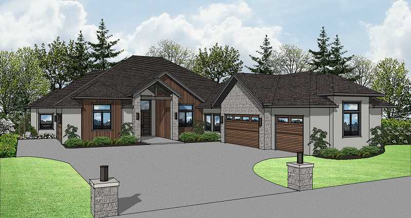 COURTESY RENDERING: RED HILLS CONSTRUCTION - NW Natural Street of Dreams house Number 2 is called Ohana.