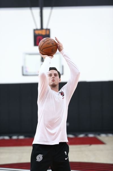 COURTESY PHOTO: BRUCE ELY/TRAIL BLAZERS - Zach Collins spent a lot of time practicing and on the sideline during the 2020-21 season, and now he's reportedly headed to San Antonio.