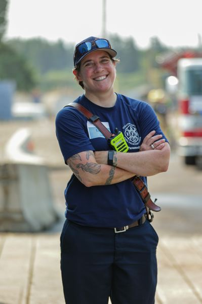 PMG PHOTO: JONATHAN VILLAGOMEZ - Emily VanMeter, a lieutenant paramedic with Tualatin Valley Fire & Rescue, served as incident command for the camp.