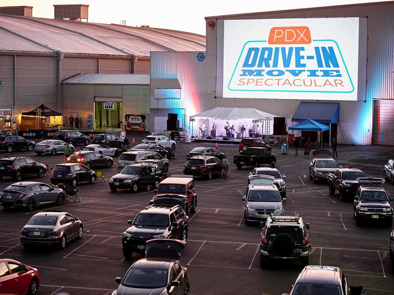 COURTESY PHOTO: HOLLYWOOD THEATER/EXPO CENTER - Cooler than a laptop, more fun than the couch. Portland Expo Center's PDX Drive-in?Movie?Spectacular runs now through Aug. 28.