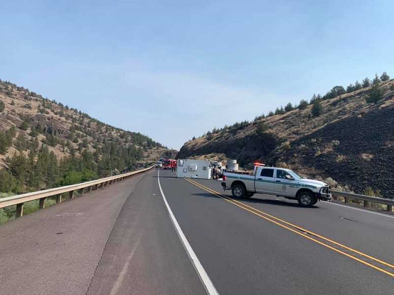 JEFFERSON COUNTY SHERIFF PHOTO - Two drivers sustained fatal injuries Tuesday morning on Highway 97 in Cow Canyon.