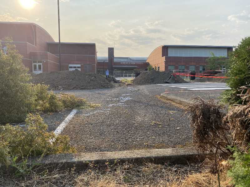 COURTESY PHOTO: WEST LINN-WILSONVILLE SCHOOL DISTRICT - Construction has started on the performing arts center expansion at Wilsonville High School and will continue until 2023.