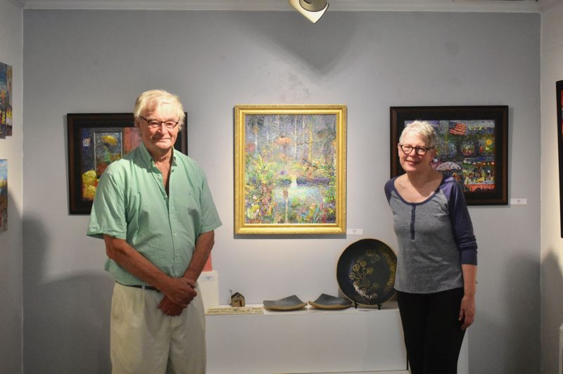 PMG PHOTO: EMILY LINDSTRAND - Oscar and Lynn Flores are the Spiral Gallery's featured artists for the month of August.