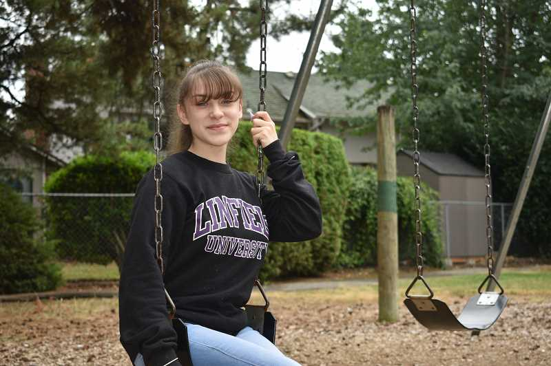 PMG PHOTO: ANGEL ROSAS  - With high school behind her, Nevaeh Landeros, 17, can't wait to study psychology at Linfield University this fall.