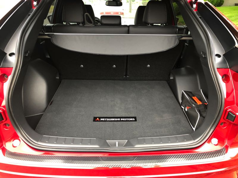 PMG PHOTO: JEFF ZURSCHMEIDE - The 2022 Mitsubishi Eclipse Cross offers ample cargo space for such a small vehicle.