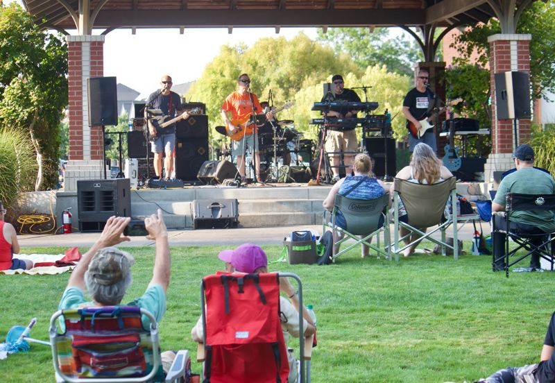 PMG PHOTO: CHRISTOPHER KEIZUR - Fairview had live music for National Night Out Tuesday, Aug. 3.