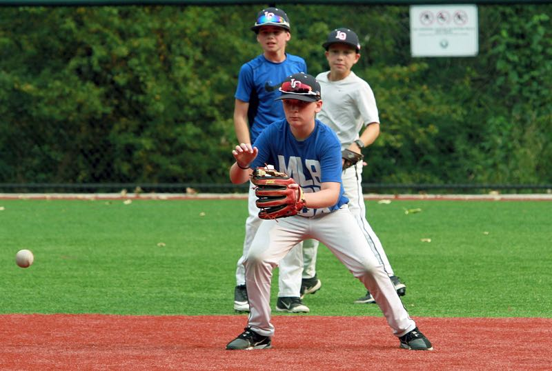 PMG PHOTO: MILES VANCE - Lake Oswego Little League Majors all-star Jackson Caylor (shown here at practice on Thursday, Aug. 5) and the rest of his teammates are hoping to play their way into the Little League World Series.