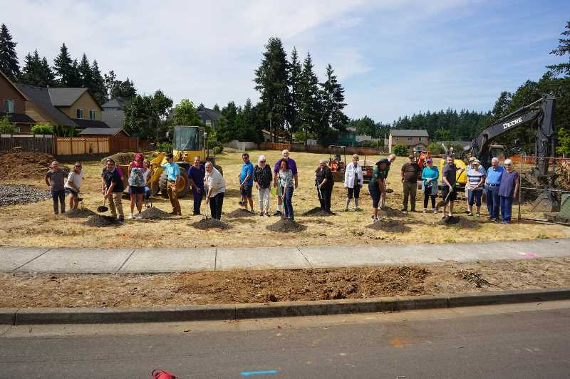 COURTESY PHOTO : CITY OF OC - Mayor Rachel Lyles Smith and Oregon City Parks and Recreation Director Kendall Reid were among the dignitaries at the groundbreaking for Filbert Run Park.