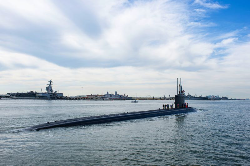 COURTESY PHOTO: U.S. NAVY - The USS Oregon is a Virginia-class fast attack submarine similar to the USS New Hampshire pictured here.