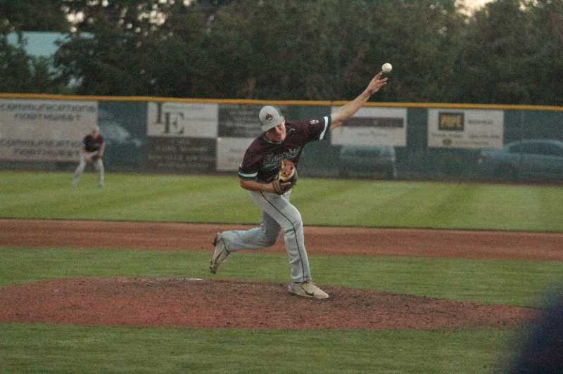 PMG PHOTO: TANNER RUSS - Rex DeAngelis was the starting pitcher against the Beaverton/Sunset Sockeyes on August 5, giving up only two runs in his time at the mound.