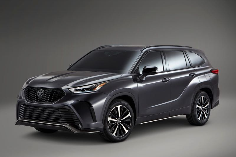COURTESY TOYOTA MOTOR USA - The new XSE package for the 2021 Toyota Highlander features sporty exterior trim, suspension and steering upgrades, special wheels and unique interior trim.