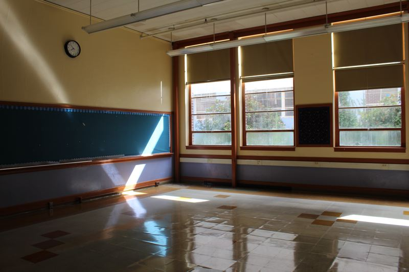 PMG PHOTO: COURTNEY VAUGHN - An empty classroom at Benson Tech High School is ready for demolition as part of a major modernization project kicking off this year.