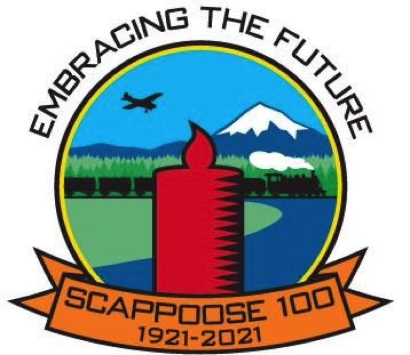 COURTESY GRAPHIC: CITY OF SCAPPOOSE - The Scappoose centennial celebration will take place Aug. 13-14.