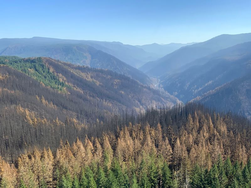 COURTESY PHOTO: MT. HOOD NATIONAL FOREST - The Clackamas River valley is pictured last September, during the Riverside Fire.