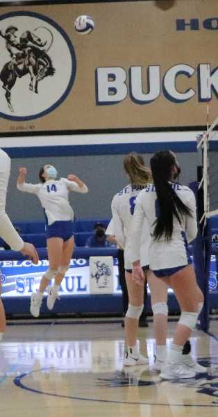 COURTESY PHOTO - Halsie Hempfling returns to the lineup as captain for St. Paul volleyball.