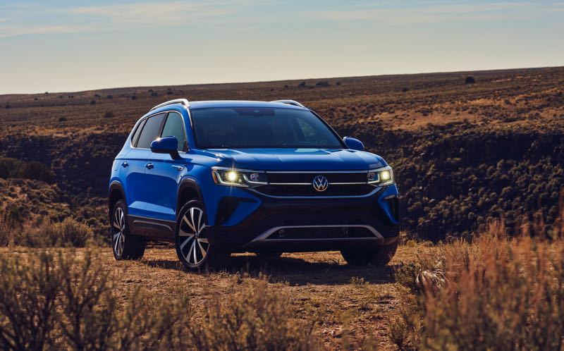 COURTESY VOLKSWAGEN - The handsome all-new 2022 Volkswagen Taos comes standard with a turbocharged 1.5-liter engine and can be ordered with either front- or 4MOTION all-wheel drive.