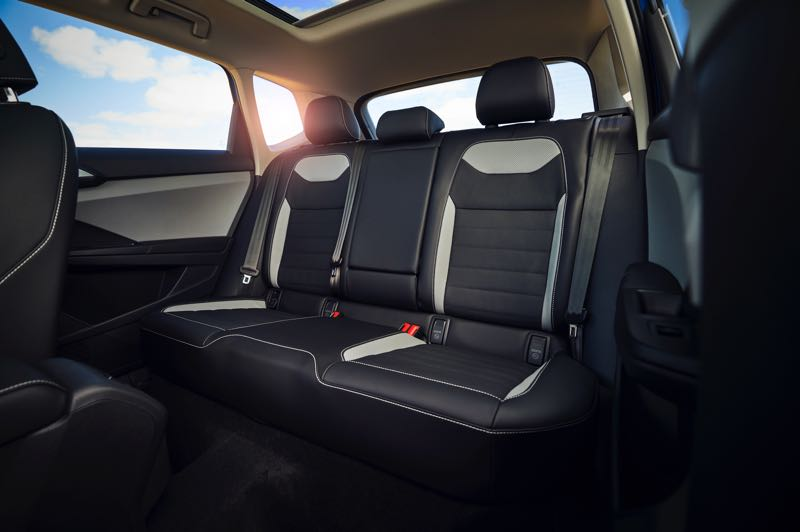 COURTESY VOLKSWAGEN - The rear seats are surprisingly roomy in the 2022 Volkswagen Taos for such a small crossover.