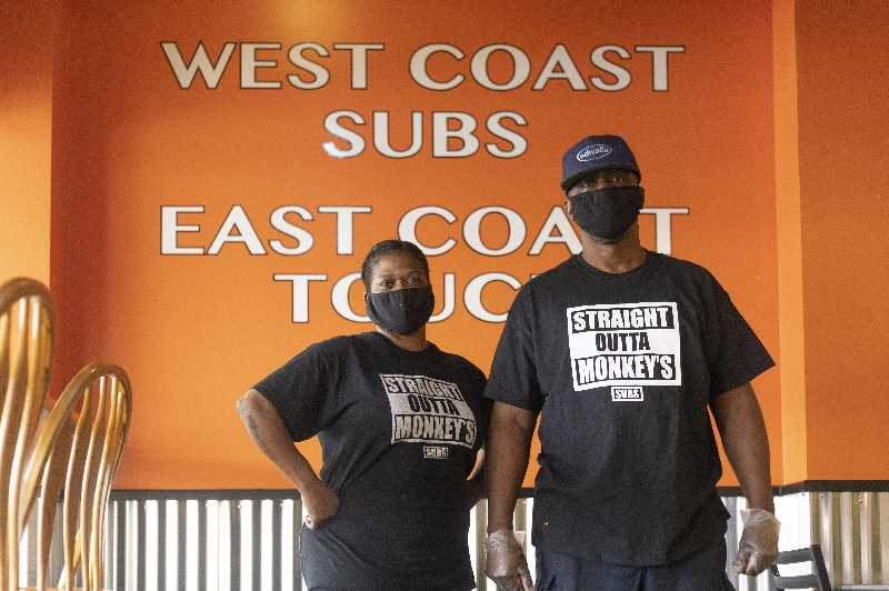 PMG PHOTO: JONATHAN HOUSE - Tricia Griffin and Steven Griffin Jr. own Monkey's Subs in Lake Oswego.