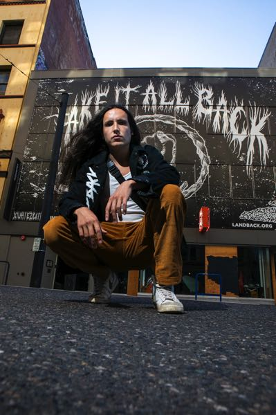 """PMG PHOTO: JAIME VALDEZ - The Indigenous rapper and environmental activist Xiuhtezcatl released his newest video """"Take it all back"""" as part of art-based campaign supporting the Land Back movement."""