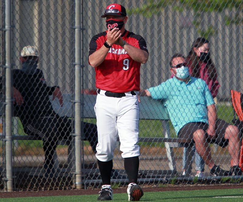 PMG PHOTO: MILES VANCE - Clackamas baseball coach John Arntson capped his 24-year career as head coach last spring, leading the Cavaliers to a 16-2 overall record.