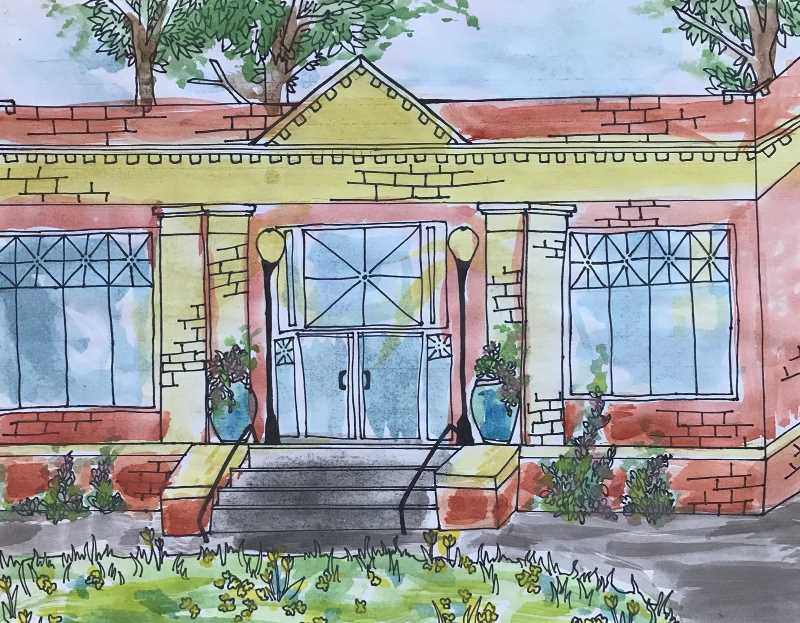 COURTESY PHOTO: CITY OF OC - Elizabeth Stedman's 'The Library' won first place in the city's Preserve Our Past Contest.
