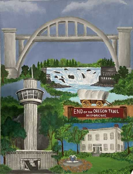 COURTESY PHOTO: CITY OF OC - Alyson Gassman's 'Gems of Oregon City' received the second-place prize in this year's contest.