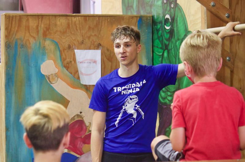PMG PHOTO: CHRISTOPHER KEIZUR - Caiden Madzelan, aka the Troutdale Ninja, hosted a summer camp to teach local kids how to be ninjas.