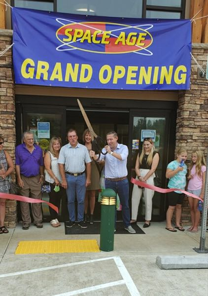 COURTESY PHOTO: SANDY AREA CHAMBER OF COMMERCE - The Sandy Area Chamber of Commerce and Mayor Stan Pulliam hosted a ribbon cutting for the new Sandy Space Age fueling station on Friday, Aug. 13.