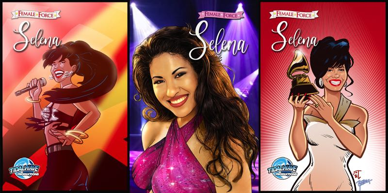 COURTESY PHOTO: TIDAL WAVE COMICS - The late singer Selena Quintanilla-Perez is featured in TidalWave Comics' newest book.