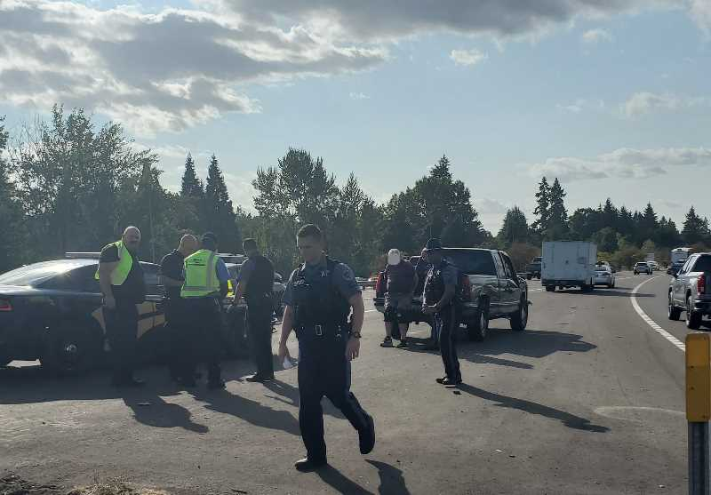 COURTESY PHOTO: OREGON STATE POLICE - Oregon State Police arrested a man who hit at least nine cars on I-205 Aug. 19.