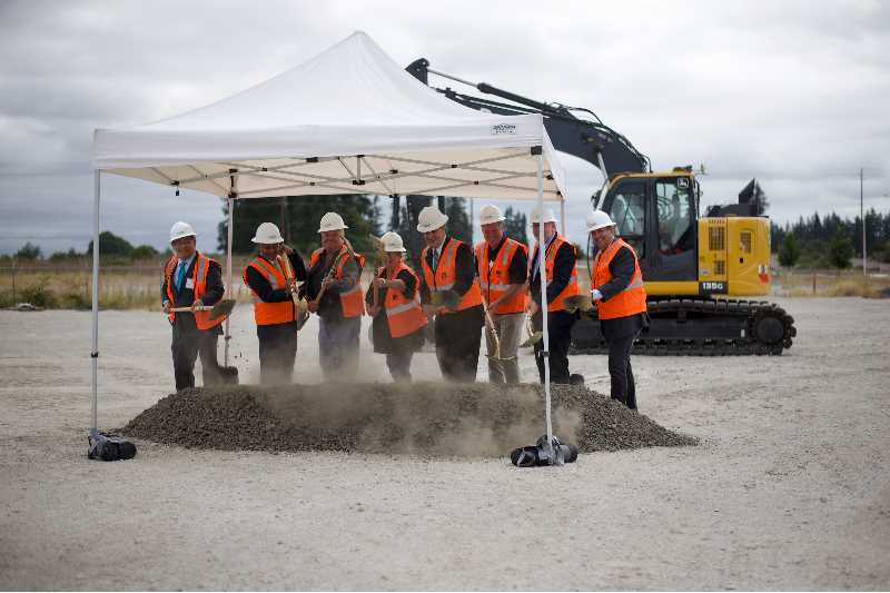 PMG PHOTO: ANNA DEL SAVIO - OMIC leaders and proponents of the center broke ground on the new additive manufacturing facility on Thursday, Aug. 19.